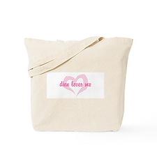 """dion loves me"" Tote Bag"
