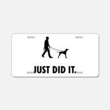 English Pointer Aluminum License Plate