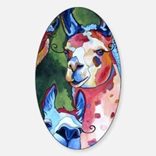 I'm in Llama Land Sticker (Oval)