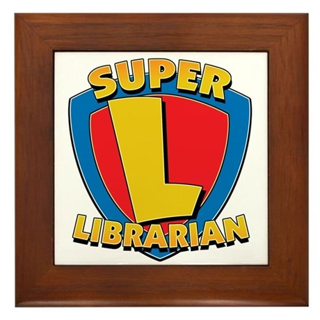 Super Librarian Framed Tile