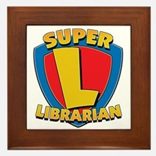Super Librarian Framed Tile