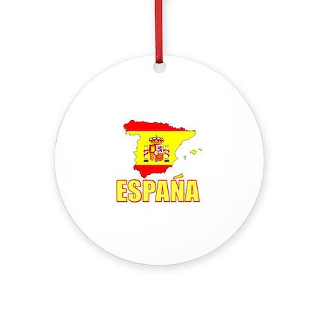 Espana Flag/Map Ornament (Round)