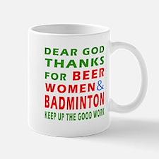 Beer Women and Badminton Mug