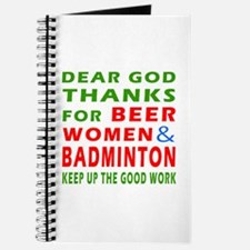 Beer Women and Badminton Journal