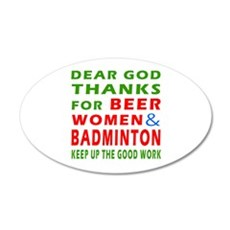 Beer Women and Badminton Wall Decal