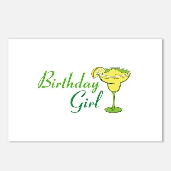 Birthday Girl margarita Postcards (Package of 8)
