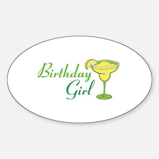 Birthday Girl margarita Decal