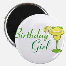Birthday Girl margarita Magnets