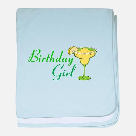Birthday Girl margarita baby blanket