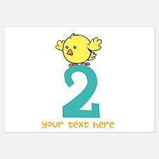 2nd Birthday chick Invitations