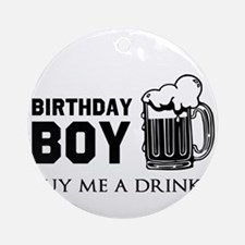 Birthday Boy Beer Ornament (Round)