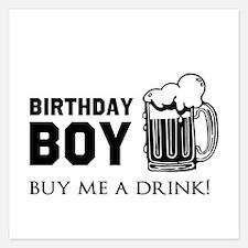 Birthday Boy Beer Invitations