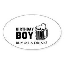 Birthday Boy Beer Decal