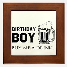 Birthday Boy Beer Framed Tile