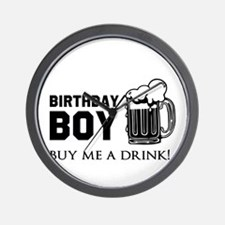 Birthday Boy Beer Wall Clock