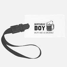 Birthday Boy Beer Luggage Tag