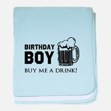 Birthday Boy Beer baby blanket