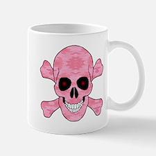 Pink Camouflage Skull And Cross Bones Mugs