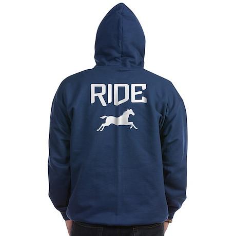 Ride...Horse Zip Hoodie (dark)