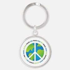 World Peace Sign Keychains