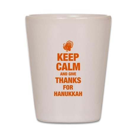 Keep Calm Hanukkah Giving Shot Glass