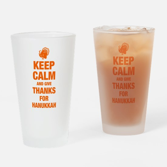 Keep Calm Hanukkah Giving Drinking Glass