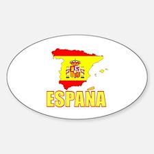 Espana Flag/Map Oval Decal