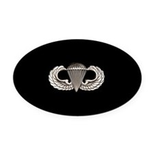 Airborne Oval Car Magnet