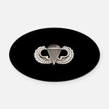 Airborne Oval Car Magnet