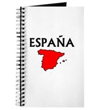 Espana Red Map Journal