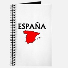 Espana Red Map Journal