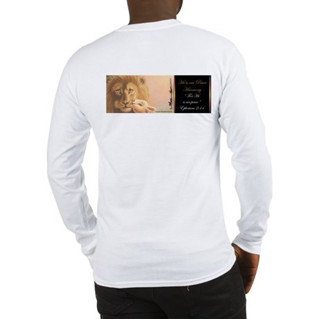 """""""He is our Peace"""" Christian T-Shirt Long Sleeve"""