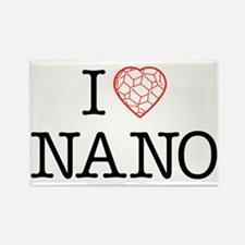 I heart Nano tshirt black text Rectangle Magnet