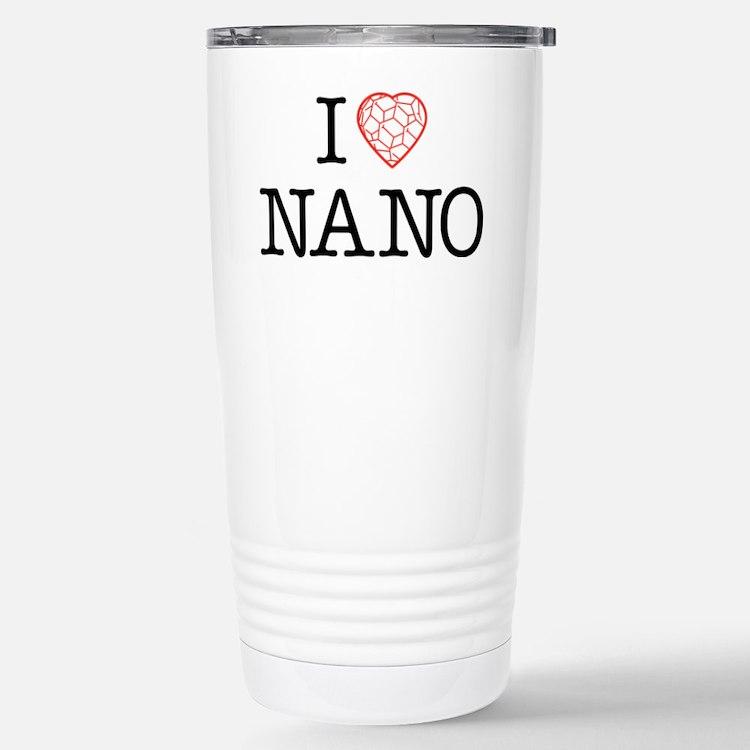 I heart Nano tshirt black text Travel Mug