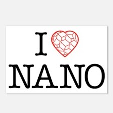 I heart Nano tshirt black Postcards (Package of 8)
