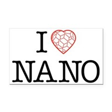 I heart Nano tshirt black tex Rectangle Car Magnet