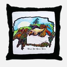 Dragon And Centaur Fairy Throw Pillow