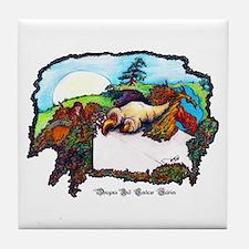 Dragon And Centaur Fairy Tile Coaster