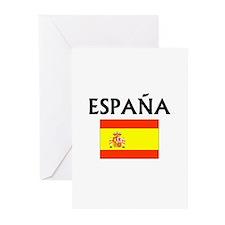 Espana Flag Greeting Cards (Pk of 10)