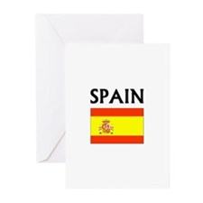 Spain Flag Greeting Cards (Pk of 10)