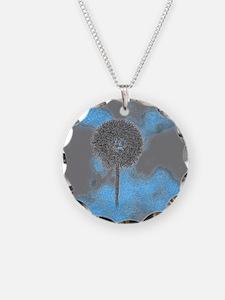 Dandelion Art Necklace