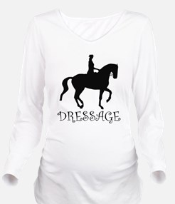 dressage curly singl.png Long Sleeve Maternity T-S