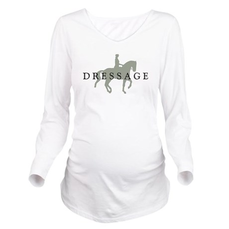 Piaffe w/ Dressage Text Long Sleeve Maternity T-Sh