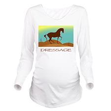 desert dressage text2.png Long Sleeve Maternity T-