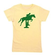 hunter jumper fence green.png Girl's Tee