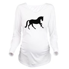 canter black.png Long Sleeve Maternity T-Shirt