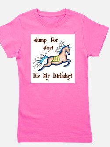 Joy Birthday Horse Girl's Tee