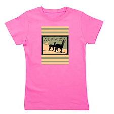 three alpacas hillside tall3.jpg Girl's Tee