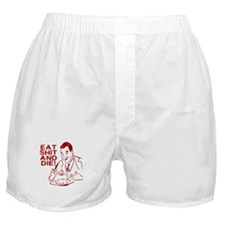 EAT SHIT AND DIE ANTI VALENTINES DAY Boxer Shorts