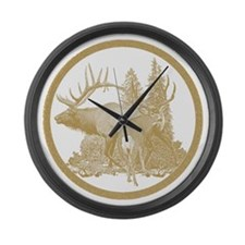 North American Big Game Large Wall Clock